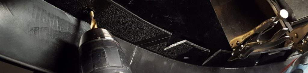 Drilling holes for mach1 chin spoiler on fox body