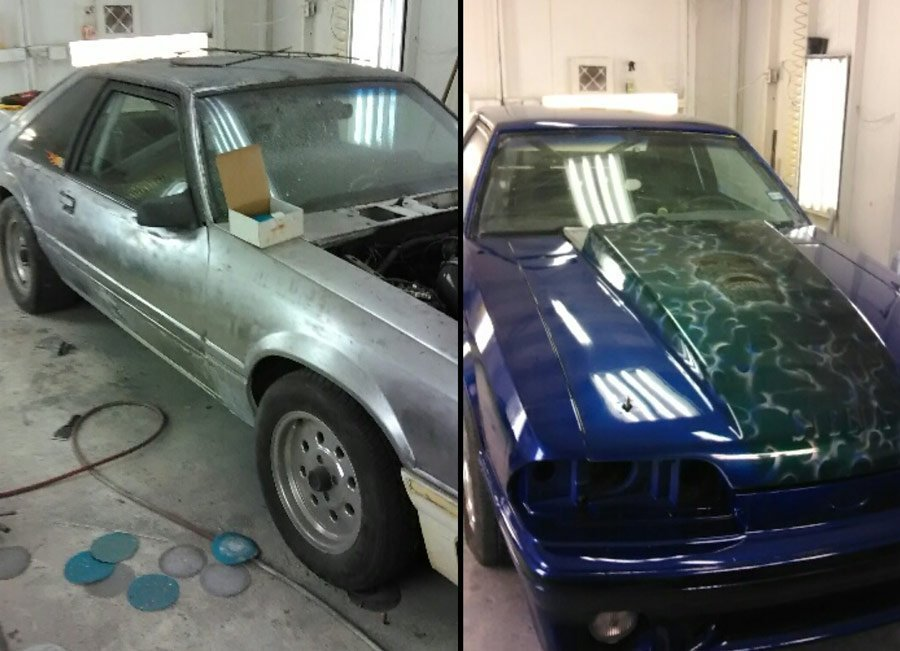 89 GT restoration paint stripped