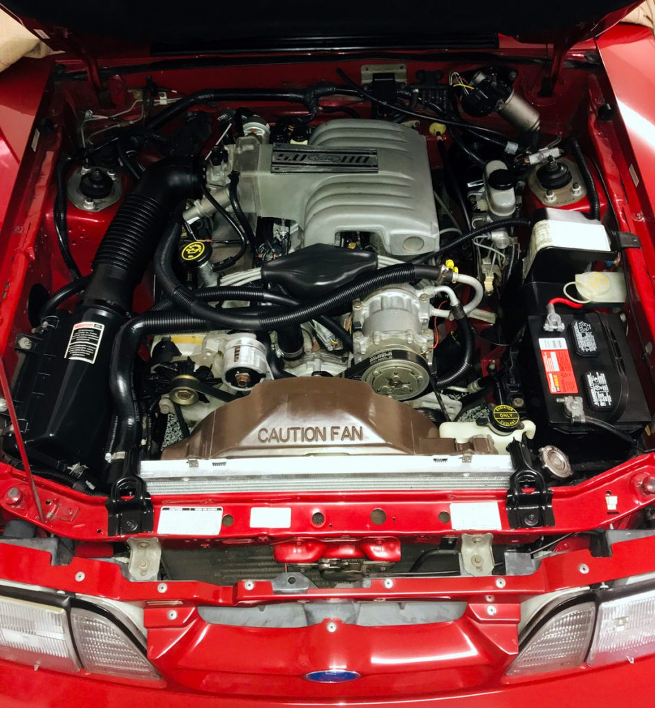 88 fox body engine bay