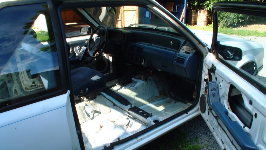 gutting fox body interior