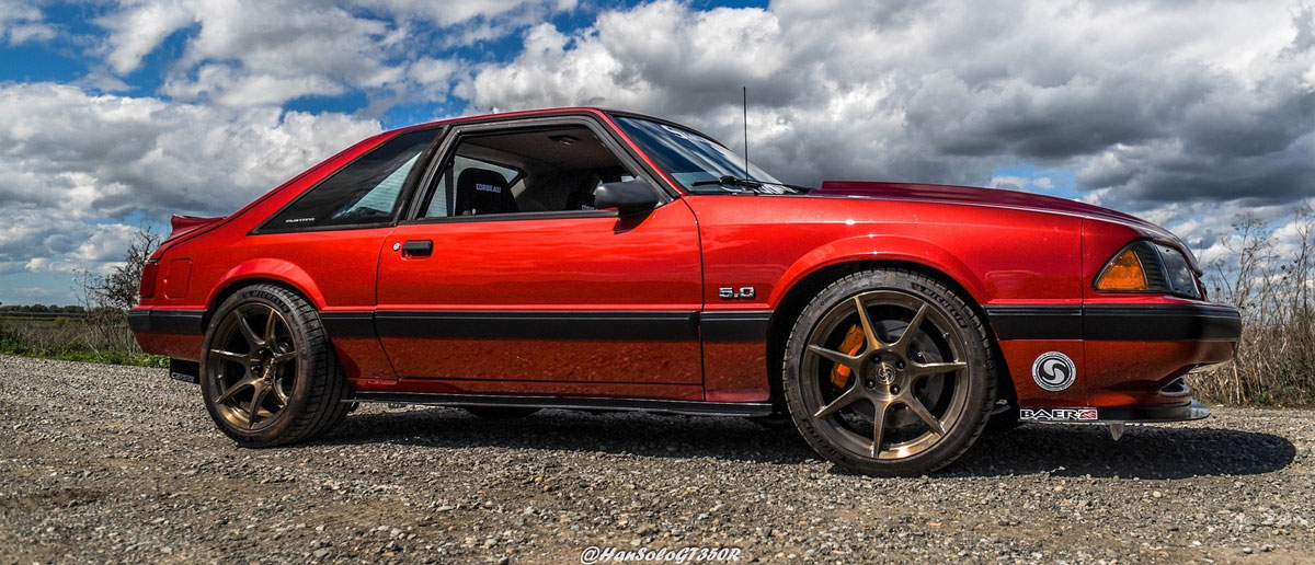 Foxbody Mustang side view